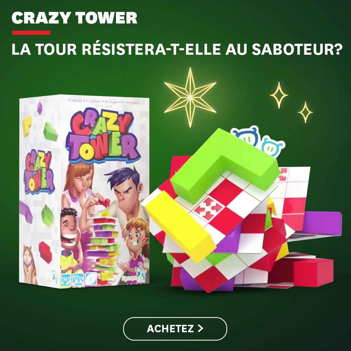Crazy Tower : ;a tour résistera-t-elle au saboteur?