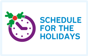 Read more about : Schedule for the Holidays