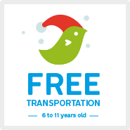 Family outings – Free transportation