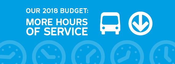 Our 2018 budget: more hours of service