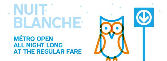 Métro open all night long at regular fare