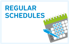 Read more about : Regular schedules